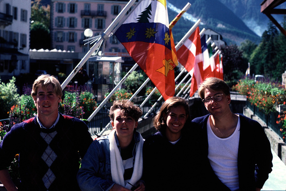 Chamonix - David, Amy, Rachel, Shelby